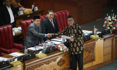 Kemendagri, Tjahjo Kumolo Saat Menyampaikan Pandangan Akhir Pemerintah Terhadap RUU tentang Perubahan Ketiga Atas UU MD3 pada Sidang Paripurna DPR RI, Senin (16/09/19).